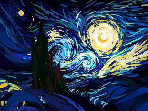 Starry Night - Poly