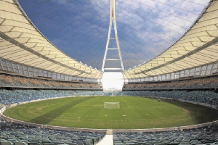 The Moses Mabhida Stadium in Durban will the Soweto derby Telkom Knockout semifinal match between Kaizer Chiefs and Orlando Pirates on November 24, 2018.