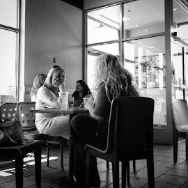 Conversations by Ernie Kasper - Instagram & Mobile iPhone ( tables, water, thinking, coffee, conversation, candid, listening, tea, people, speaking )