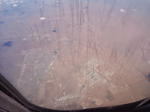 Photo: It's hard to see through the scratched-up window, but this is an admin area for Biggs Army Airfield, just north of El Paso.