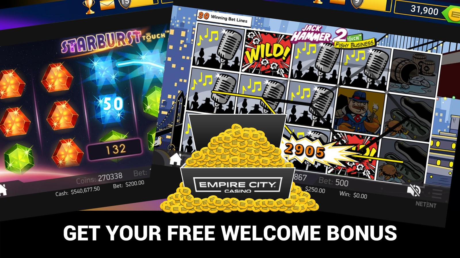 empire city casino free play