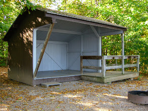 Photo: Accessible lean to at Grand Isle State Park
