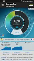 Screenshot of DegroupTest speed test