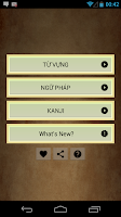 Screenshot of KANJI - TU VUNG - NGU PHAP