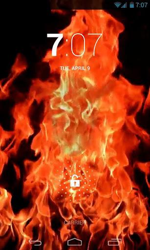Creepy Fire Skull Live Wallpap