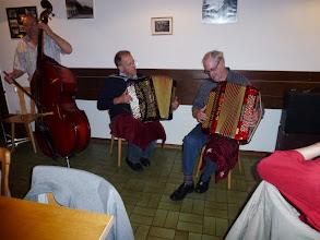 """Photo: Das """" ad hoc Accordeontrio """" Alfred Moser am Bass,   Hans Däppen und Alfred Häfliger am Accordeon."""
