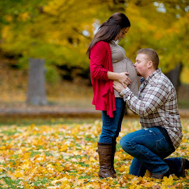 fall by Casey Bebernes - People Maternity