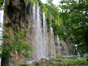 Photo: One of the many waterfalls, Plitvicka Lakes