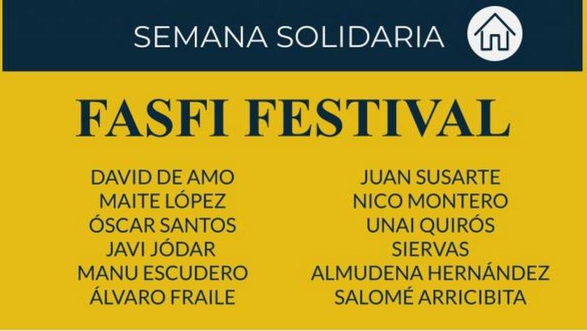 El Festival solidario de FASFI llega mañana a través de YouTube.