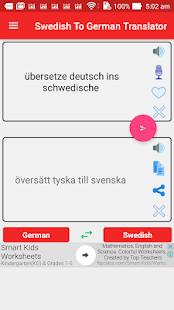 Swedish German Translator Programu Zilizo Kwenye Google Play