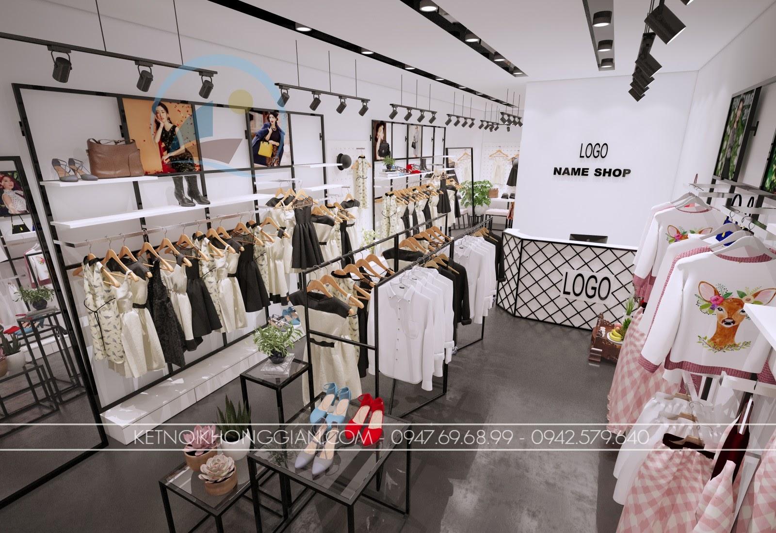 thiết kế shop thời trang giá rẻ nhất miền bắc