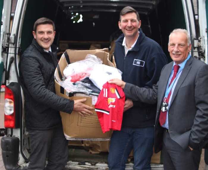 Seized counterfeit goods given to charity