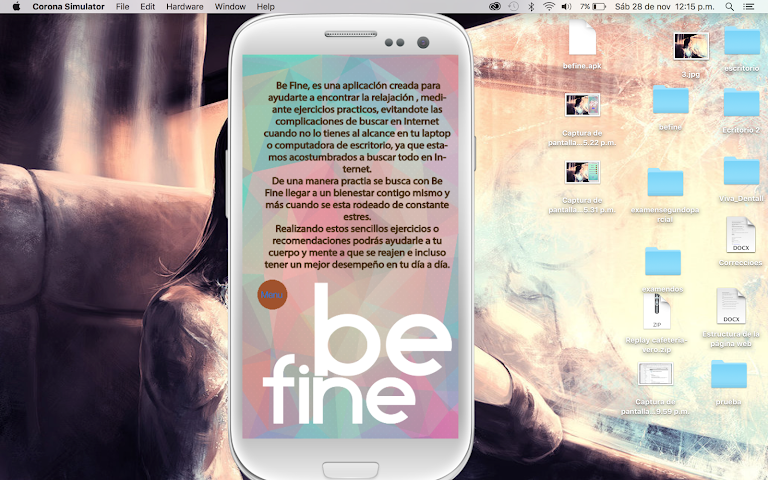 android Be Fine Screenshot 2