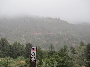 Photo: Fog, rain, snow and high winds