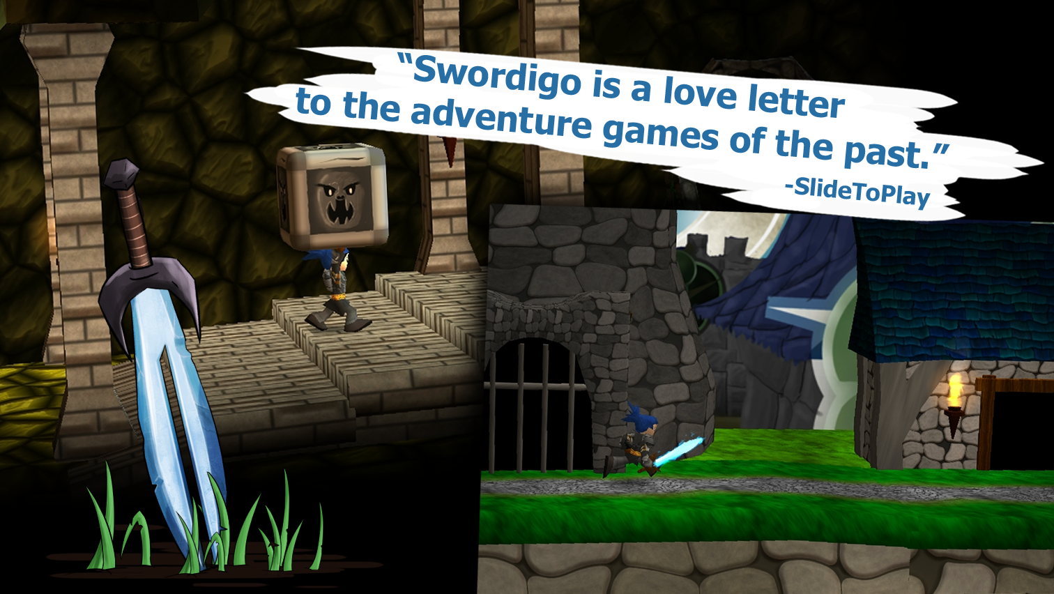 Screenshots of Swordigo for iPhone