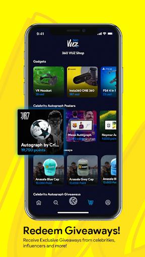 360VUZ - Live Stream 360u00b0 VR Video App 4.6.7 screenshots 5