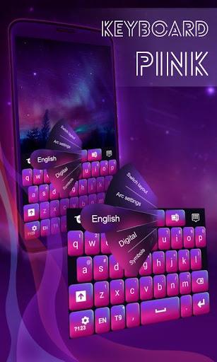 鍵盤粉紅色和紫色