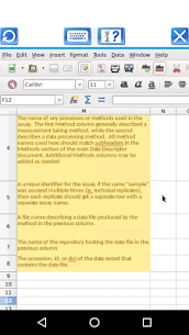 AndroCalc Spreadsheet editor for XLS, XLSX and ODS 2