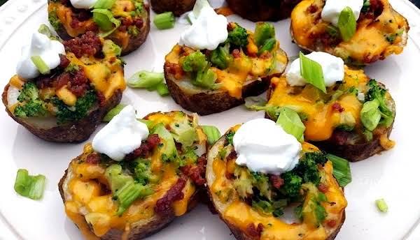 ~ Broccoli, Bacon & Cheddar  Potato Rounds ~