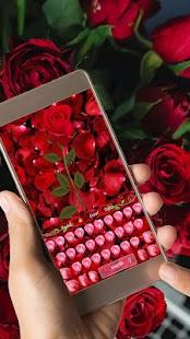 Květinová růžová klávesnice - náhled