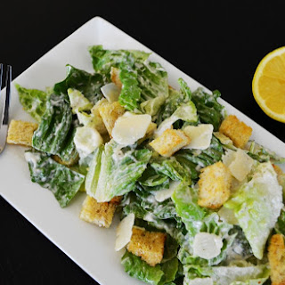 Caesar Salad with Home Made Caesar Dressing.