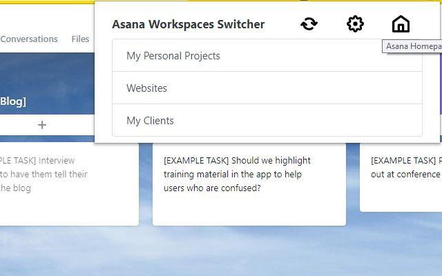 Asana Workspaces Switcher