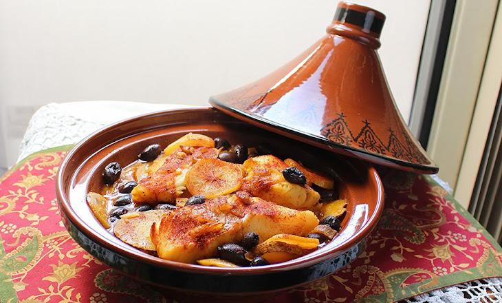 Fish and Potato Tagine with Preserved Lemon Recipe
