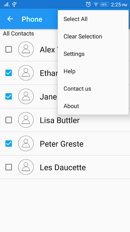 Copy Contacts- screenshot