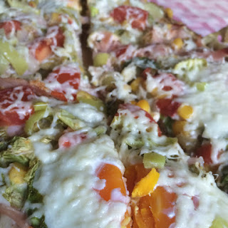 Spring Pizza with Eggs.
