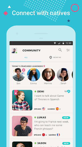 Tandem Language Exchange: Speak & learn languages 2.0.3 screenshots 1