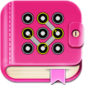 Secret diary with lock icon