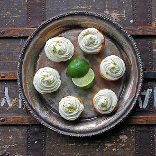 Juniper Berry Lime Cupcakes with Lime and Jasmine Icing