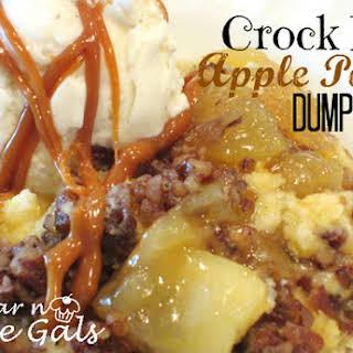 Crock Pot Apple Pecan Dump Cake.