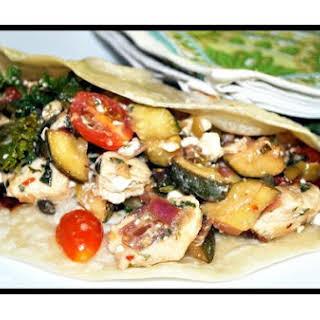 Chicken Wraps with Mediterranean Flair.