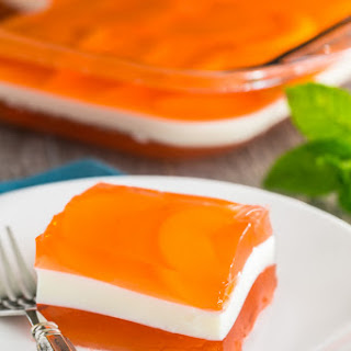 Peaches and Cream Layered Jello Recipe (Video Tutorial)