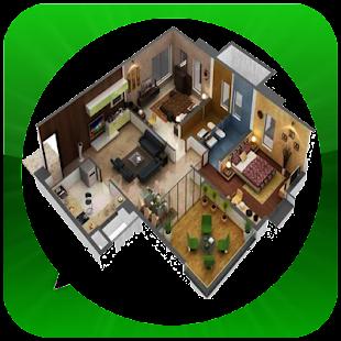 Návrh trojrozměrného domu - náhled