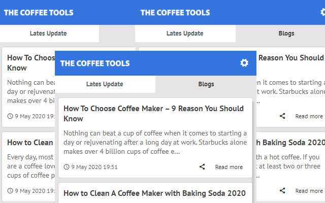 The Coffee Tools - Latest News Update