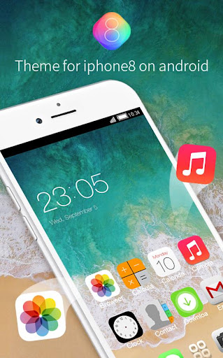 Theme for iPhone 8 HD: Stylish Wallpaper & Icons for PC
