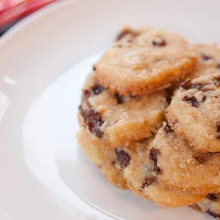 Rum Raisin Shortbread Cookies