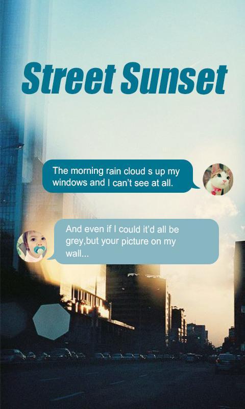 Скриншот GO SMS STREET SUNSET THEME