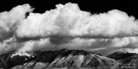 """Photo: """"Accumulation"""" - http://www.createwithlightphotography.com  This is my contribution to the #MountainMonday theme, kindly curated by +Michael Russell , the #MonochromeMonday theme, kindly curated by +Siddharth Pandit and +Mark Metternich , the #FineArtPls theme, curated by the lovely +Marina Chen and +FineArtPls , the #BWFineArt theme, curated by the amazing Mr +Joel Tjintjelaar and +Black and White Fine Art Photography Gallery , #RectanglesAreSexy curated by the spectacular +Athena Carey and finally the #PlusPhotoExtract theme, run by +Jarek Klimek   This is an image of cumulus clouds building up over the snowy North Shore Mountains, viewed from Brockton Point in Vancouver, British Columbia  It's my 2nd mountain image in a new series...so stay tuned!!  All thoughts and comments welcome.  Please visit my website to view more of my images: http://www.createwithlightphotography.com  #PlusPhotoExtract #GrantMurray #CreateWithLightPhotography #BWFineArt #FineArtPls"""