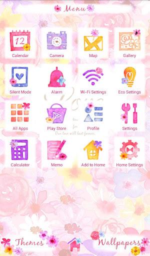 Heart in Flowers +HOME Theme 1.0.0 Windows u7528 2