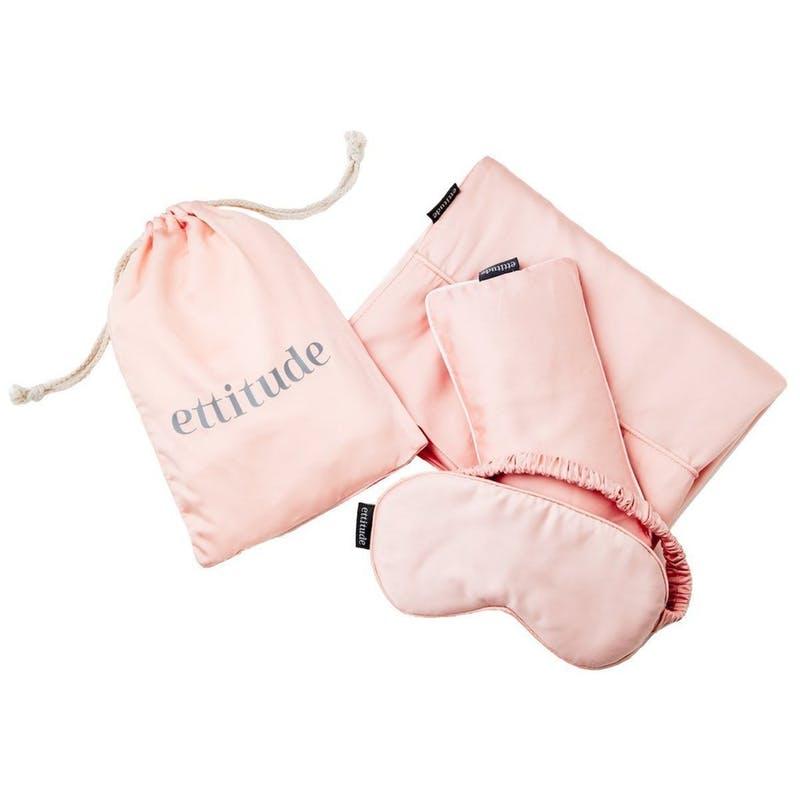 ettitude sleepwear pink travel eyemask kit