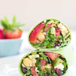 Strawberry Salad Wrap