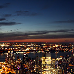 New York City by Rita Jaber Youssef - Landscapes Starscapes ( #nyc #empirestate #topoftheroc #newyorkcity )