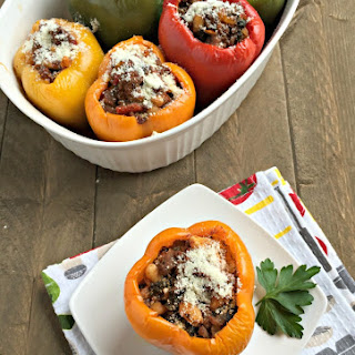 Beef & Kale Stuffed Peppers