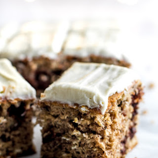 Healthy Banana Cake with Cream Cheese Frosting.