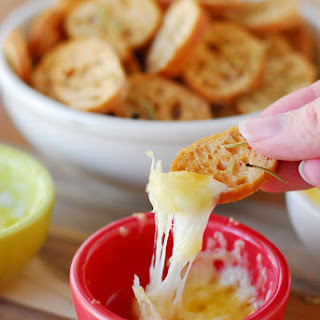 Havarti Fondue with Rosemary Crostini
