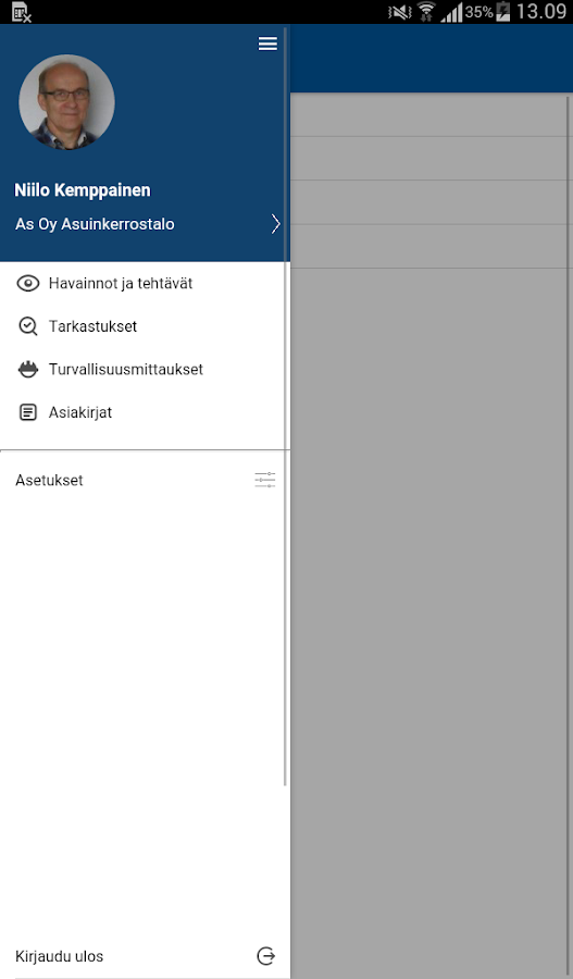 Consight Projektinohjaus- screenshot