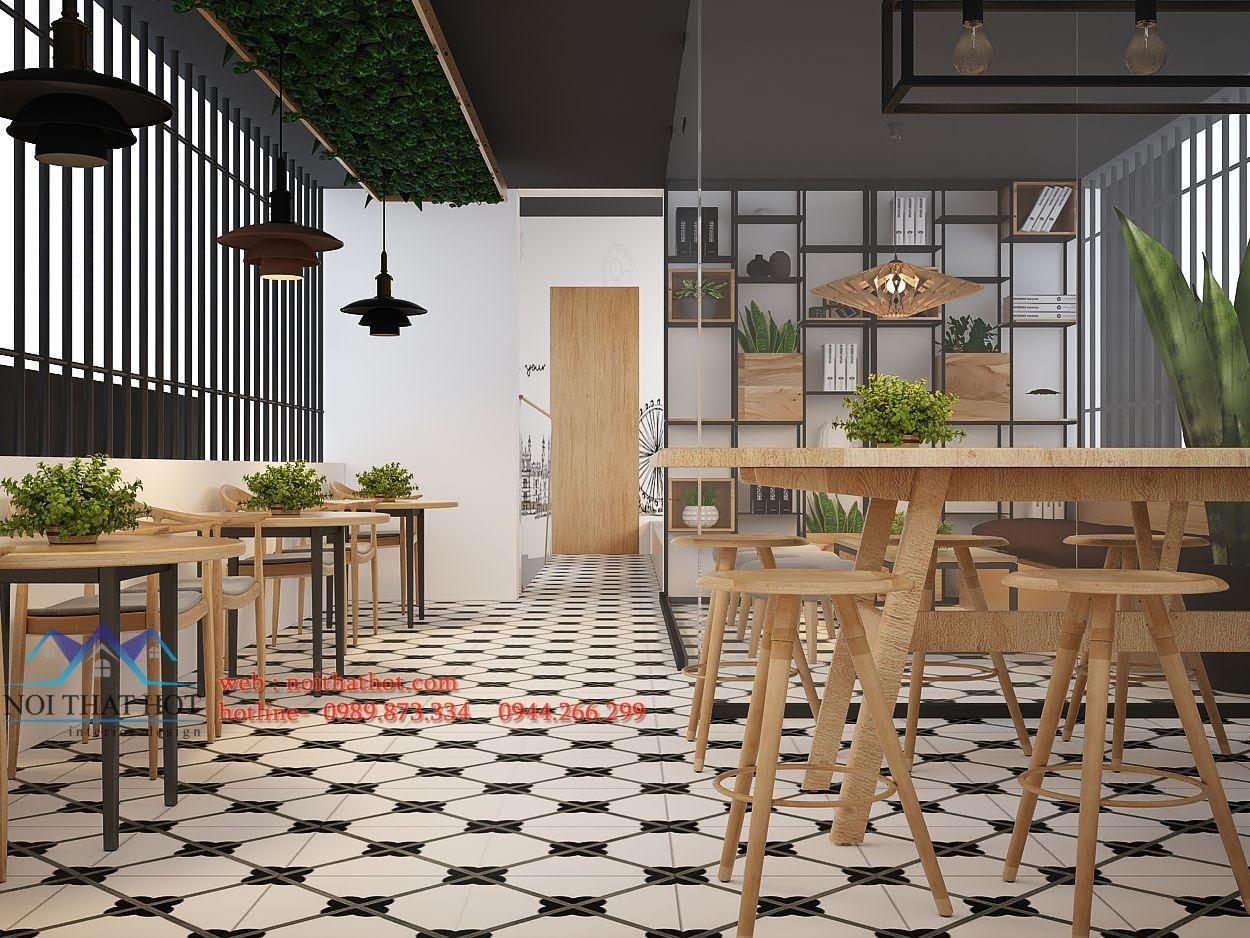 thiết kế quán trà sữa Samcha 8